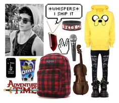 """""""emo Jake"""" by nefelisas ❤ liked on Polyvore featuring Dr. Martens, Kenneth Jay Lane, JanSport, Beautiful People, Audio-Technica, CO, men's fashion and menswear"""