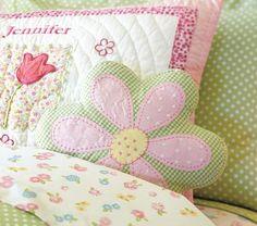 Gingham Daisy Pillow
