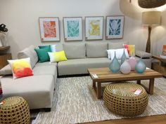 Incroyable Visual Merchandising Green Aqua Yellow Coral Furniture Palms Sofa Lounge  Comfy Oz Design Furniture Cushion