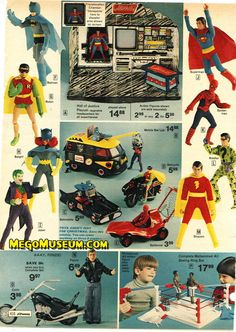1976 Action figures from JCPenny Catalogue My Childhood Memories, Childhood Toys, Gi Joe, Batman Figura, Sears Toys, 1960s Toys, 1980s, Toy Catalogs, Old School Toys