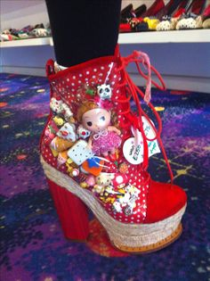 Where do I start?  Certainly someone didn't know where to stop.  [Harajuku style Heels  Irregular Choice  London] LOVE THEM!