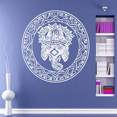 Wall Decals Mandala Elephant Yoga Namaste Indian Geometric Moroccan Pattern Decal Vinyl Sticker Decal Art Home Decor Art Mural Bedroom MS224