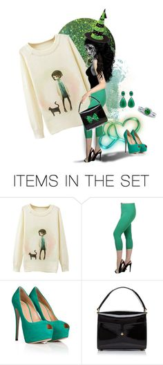 """""""Always add a pop of Green"""" by glitterlady4 ❤ liked on Polyvore featuring art"""