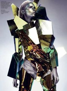 Futuristic Face-Masked Fashion - Kate Moss is Out of This World for Vogue Paris May 2011 (GALLERY)