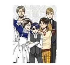 Black Butler x Attack on Titan Crossover; I like how Eren is Finny because they have the same voice actor in Japanese and Erwin is Sebastian because they have the same English voice actor.