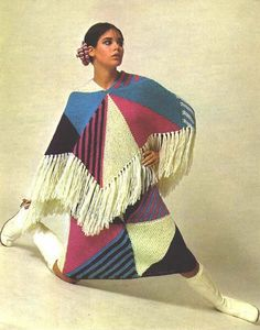 1960s Poncho and matching skirt