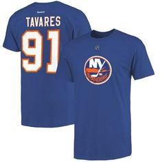 Men's John Tavares New York Islanders Reebok Blue Name and Number T-Shirt