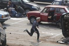 "They look pretty great in action tbh. | Set Photos From ""Avengers: Age Of Ultron"" Reveal Our First Look At Scarlet Witch And Quicksilver"