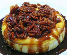 Kahlua-Pecan-Brown Sugar Baked Brie    1 whole wheel of Brie (Costco sells a 19 ounce Brie wheel which is perfect for this recipe)  1 cup Kahlua  1 cup light brown sugar, packed  1 cup chopped pecans (I left mine whole because I like they way they look)