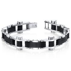 Image of Sleek Matte Bracelet, Stainless Steel