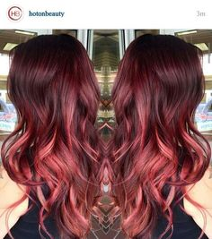 Coppery Red Ombre Balayage