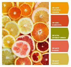 Summery Citrus palette