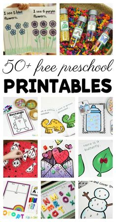 50+ free preschool printables for your classroom or home preschool #preschool #freebie #freeprintable #printable #preschoolers #preschoolteacher #funaday #preschoolactivities #preschoolteacher