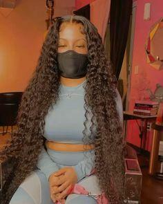 Black Girl Braided Hairstyles, Baddie Hairstyles, Black Women Hairstyles, Cute Weave Hairstyles, Black Girl Braids, Cheap Human Hair Wigs, Long Hair Waves, Pelo Natural, Hair Laid