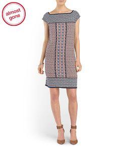 Printed Grid Dress