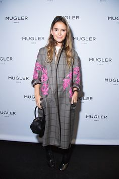 Miroslava Duma attends the Mugler Paris Store Opening Cocktail Party as part of the Paris Fashion Week Womenswear Spring/Summer 2017 on October 1...