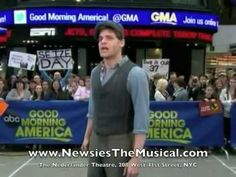 "Newsies - ""Seize the Day/Santa Fe"" Good Morning America  YES NEWSPAPER DANCE!"
