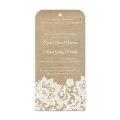 Wedding Lace Wedding Invitations