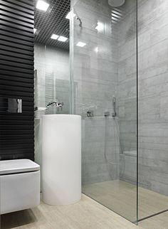 прозрачный душ без швов