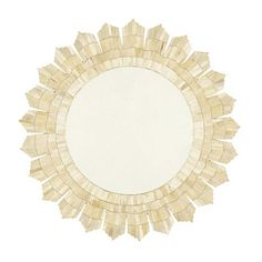 Bone Sunburst Mirror (Basement Guest Bedroom)