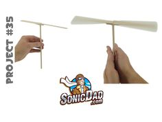 When was the last time you saw a popsicle stick fly? I mean literally fly? With a simple set of SonicDad instructions you can build your own home made helico...