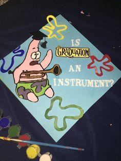 my spongebob graduation cap! my spongebob graduation cap! Funny Graduation Caps, Graduation Cap Toppers, Graduation Cap Designs, Graduation Cap Decoration, Graduation Diy, Funny Grad Cap Ideas, Graduation Outfits, Graduation Quotes, Graduation Pictures