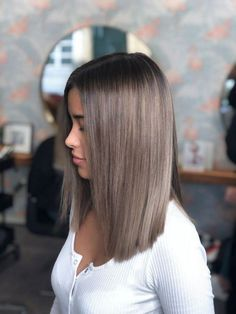 Friseur München, Balayage München, Arbuti Hair Salon The Effective Pictures We Offer You About hair highlights for brunettes A quality … Medium Hair Styles, Curly Hair Styles, Hair Styles Straight, Longbob Hair, Brown Blonde Hair, Dyed Hair Brown, Balayage Hair Dark Short, Ash Brown Balayage, Ombre On Brown Hair