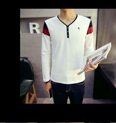 Alvicio Long-Sleeve V-neck T-Shirt | YESSTYLE