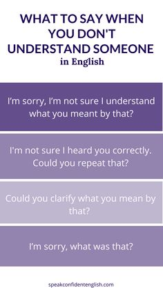 Professional English Skills. Have you ever been in a business meeting and had a difficult time understanding someone? Here are some perfectly polite questions to use when you need someone to repeat or clarify their comments. Get the full lesson at…