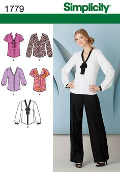 Simplicity 1779 - nice pattern for a pussy-bow blouse (view B)