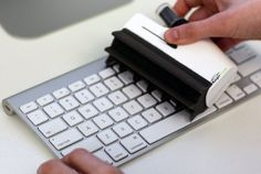 A handy anti-bacterial screen and keyboard cleaning system