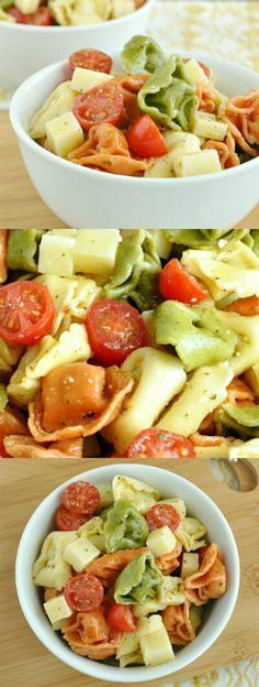 This addictive Tortellini Pasta Salad is tossed with an uber-flavorful homemade dressing and is sure to vanish quickly at your next party or BBQ! :: It's quick, easy, and can be made ahead of time for a tasty grab and go dish! - we can't stop making this one