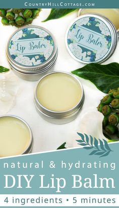 Learn how to make an easy natural DIY lip balm. The moisturizing and healing lip balm recipe is made with hydrating shea butter, organic coconut oil and beeswax oil to leave your lips feeling soft and supple. You can customise the lip ba Organic Lip Balm, Natural Lip Balm, Beeswax Recipes, Lipbalm, Shea Butter Lip Balm, Lip Scrub Homemade, Homemade Ice, Beeswax Lip Balm, Lip Balm Recipes