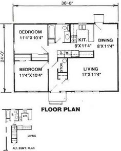 864 Sq. Ft. House Plan [08-004-225] from Planhouse - Home Plans ...