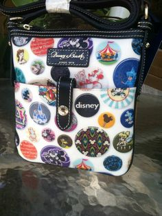 Disney Dooney and Bourke Mickey Ariel Tinkerbell Dumbo  Letter Carrier Bag