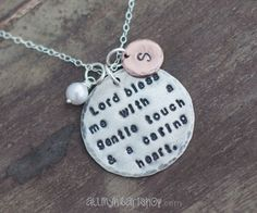 Personalized RN Gift Hand Stamped Nurse Necklace by allmyheartshop, $43.00