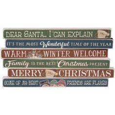 Christmas Variety Sayings Block -