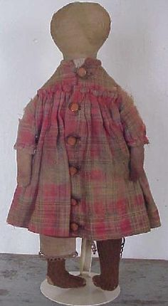 Antique Rag Doll  The clothes are so cute!
