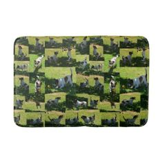 Fox Terriers Hard Days Play Photo Collage. Bathroom Mat - diy cyo customize create your own personalize
