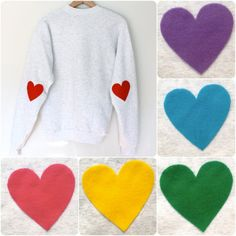 Great DIY idea to dress up a plain sweatshirt into something fashionable.