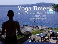 Yoga Time at Porto Valitsa Resort - Halkidiki Yoga, Beach, Places, Water, Movies, Movie Posters, Outdoor, Porto, Gripe Water