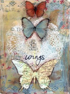 """Give Your Dreams Wings"", Mixed Media Art Print."