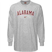 Nike Alabama Crimson Tide Preschool Ash Classic College Long Sleeve T-shirt