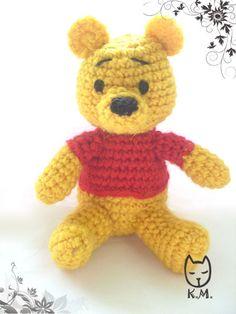 Pooh Bear - free crochet amigurumi pattern, not english, pic tutorial - Лучшее - Вашим детям