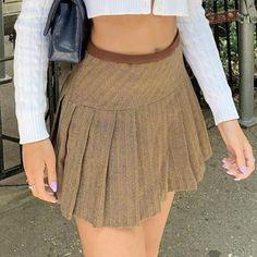 Brown Pleated Skirt, Lace Up Skirt, Cheap Skirts, Short Skirts, Mini Skirts, Preppy Skirt, England Fashion, Plaid Fashion, Rave Wear