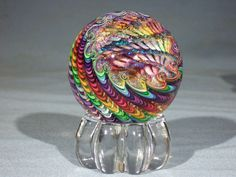 Marbles: Hand Made Art Glass James Alloway Dichroic Marble #1714  2.5 inch #Glass