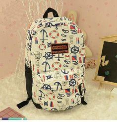 Cute blue fashion Anchor Backpack Bag