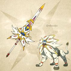 Instagram photo by rebusalpa - Pokemon Sun - Solgaleo. #pokemon #solgaleo #greatblade #pokeapon
