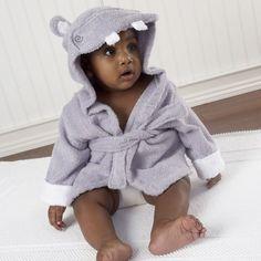 Fancy - Hug-A Lot-Amus Hooded Hippo Bath Robe