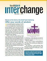 Interchange Magazine, May 2012 issue. Women of the ELCA. Evangelical Lutheran Church in America.